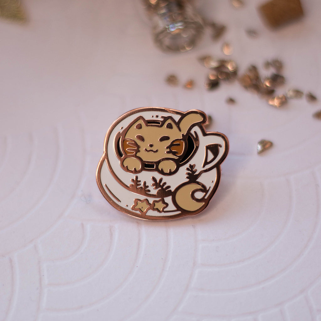 Catpuccino | Enamel Pin - Aurigae Art &Illustration