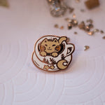Load image into Gallery viewer, Catpuccino | Enamel Pin - Aurigae Art &Illustration