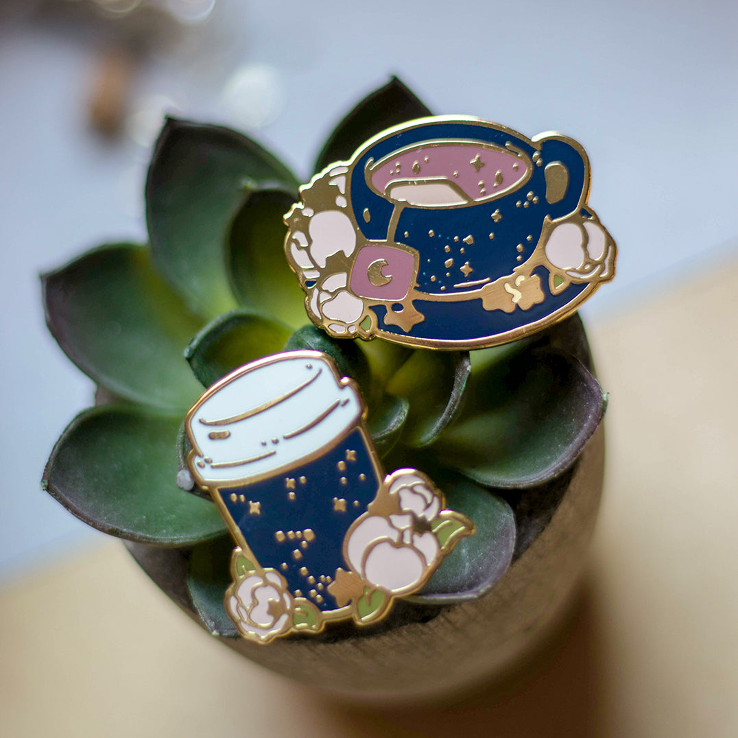 Galaxy Tea | Enamel Pin - Aurigae Art &Illustration