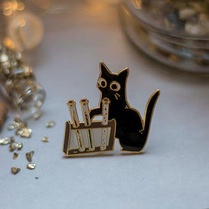 Curious Kitten | Enamel Pin - Aurigae Art &Illustration