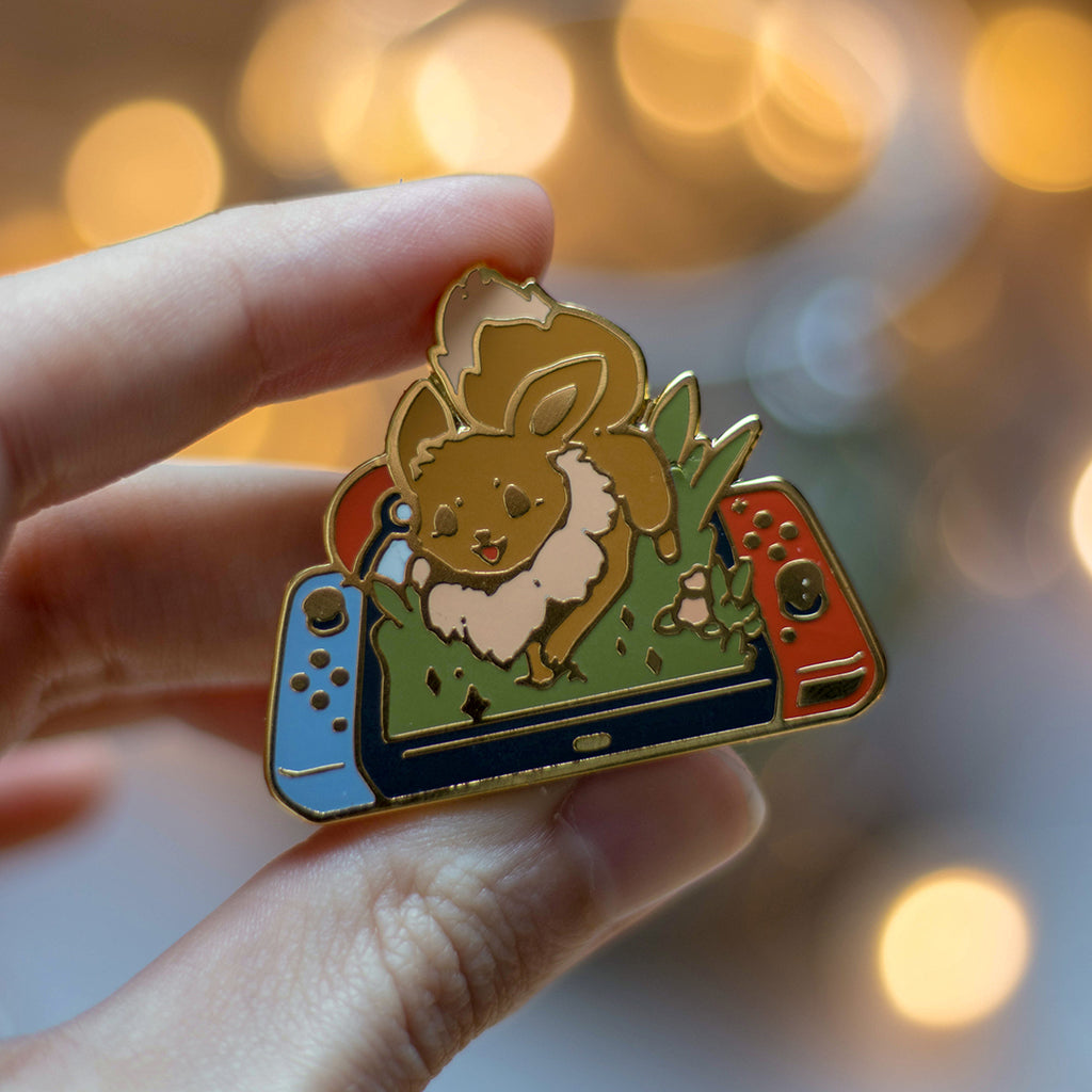 Eevee Switch | Enamel Pin - Aurigae Art &Illustration