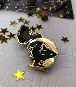 Mooneater | Enamel Pin - Aurigae Art &Illustration
