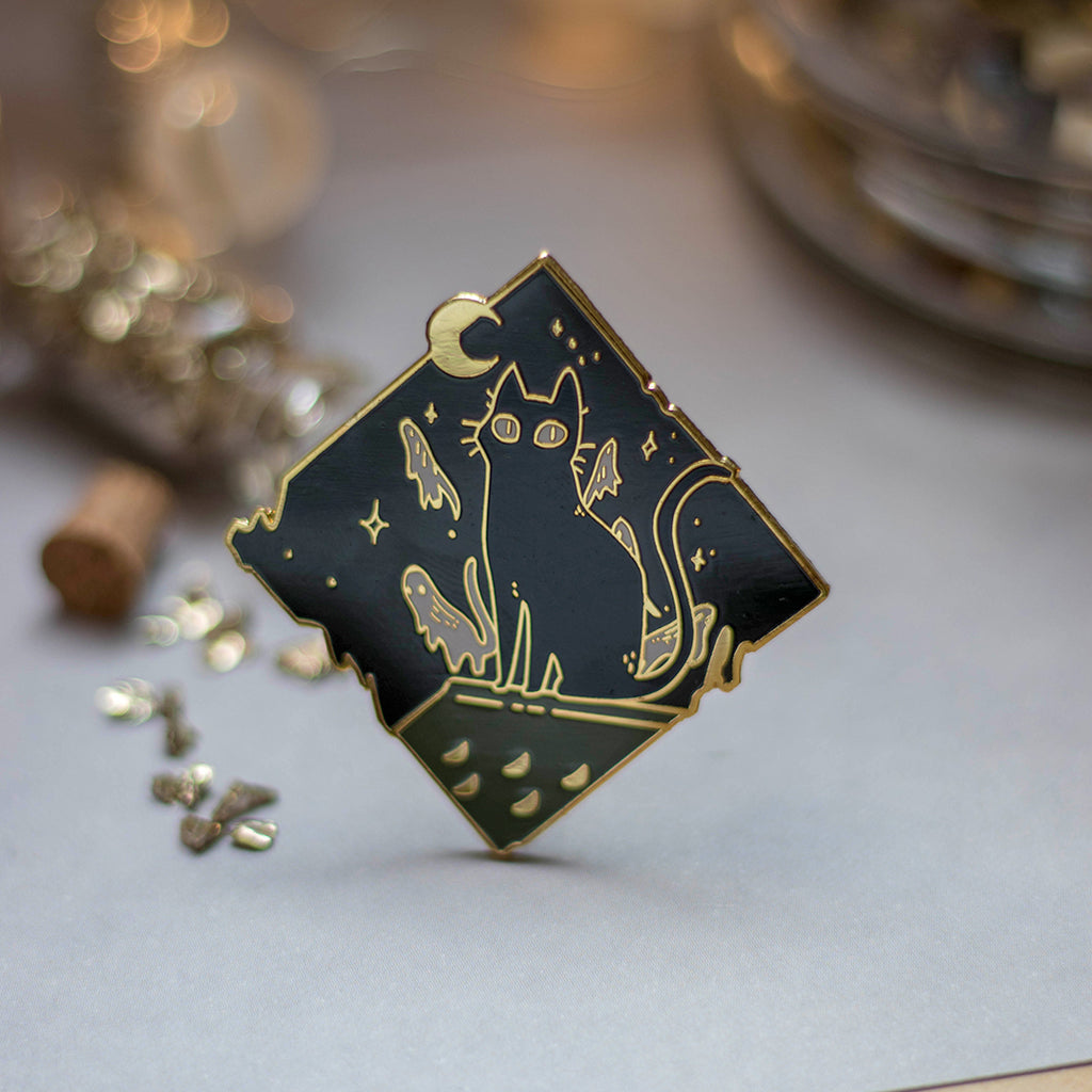 Nighttime | Enamel Pin - Aurigae Art &Illustration