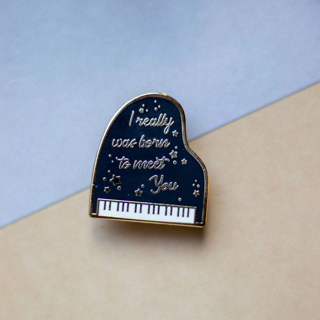Piano | Enamel Pin - Aurigae Art &Illustration