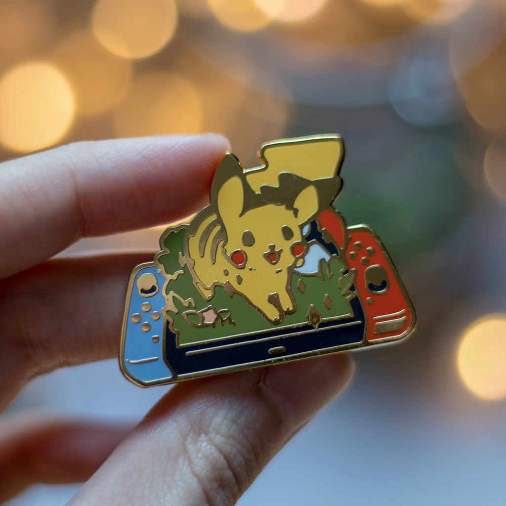 Pikachu Switch | Enamel Pin - Aurigae Art &Illustration