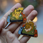 Load image into Gallery viewer, Pikachu Switch | Enamel Pin - Aurigae Art &Illustration