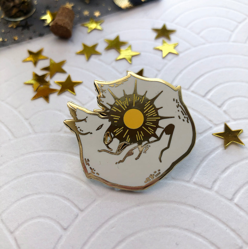 Suneater | Enamel Pin - Aurigae Art &Illustration