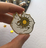 Load image into Gallery viewer, Set Suneater & Mooneater | Enamel Pin - Aurigae Art &Illustration