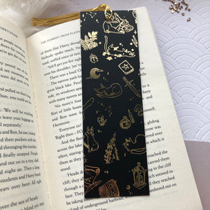 The Witch's Cat | Gold Foil Bookmark - Aurigae Art &Illustration