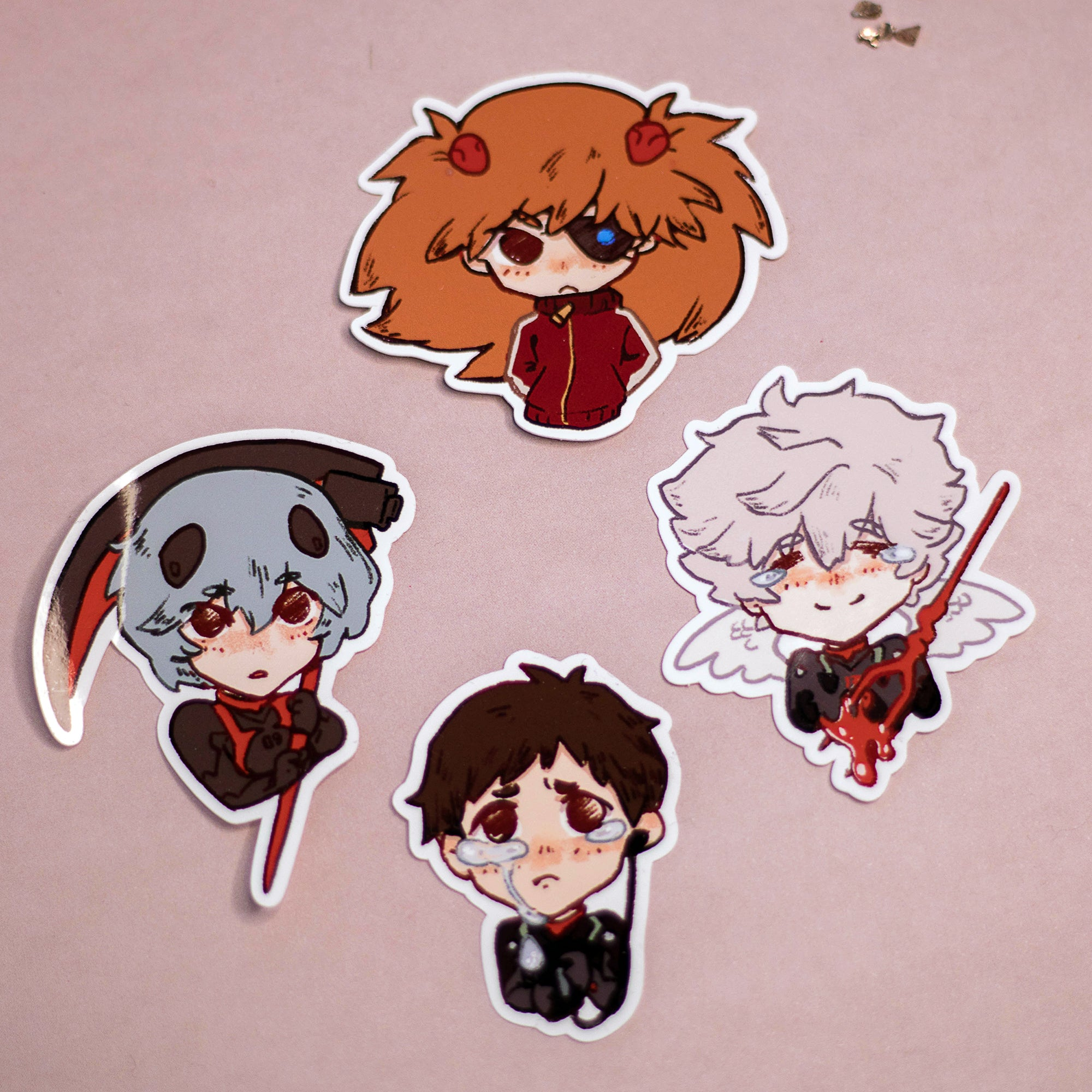 More Eva Pilots | Stickers - Aurigae Art &Illustration