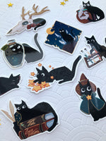 Load image into Gallery viewer, The Witch's Kitten | Stickers - Aurigae Art &Illustration