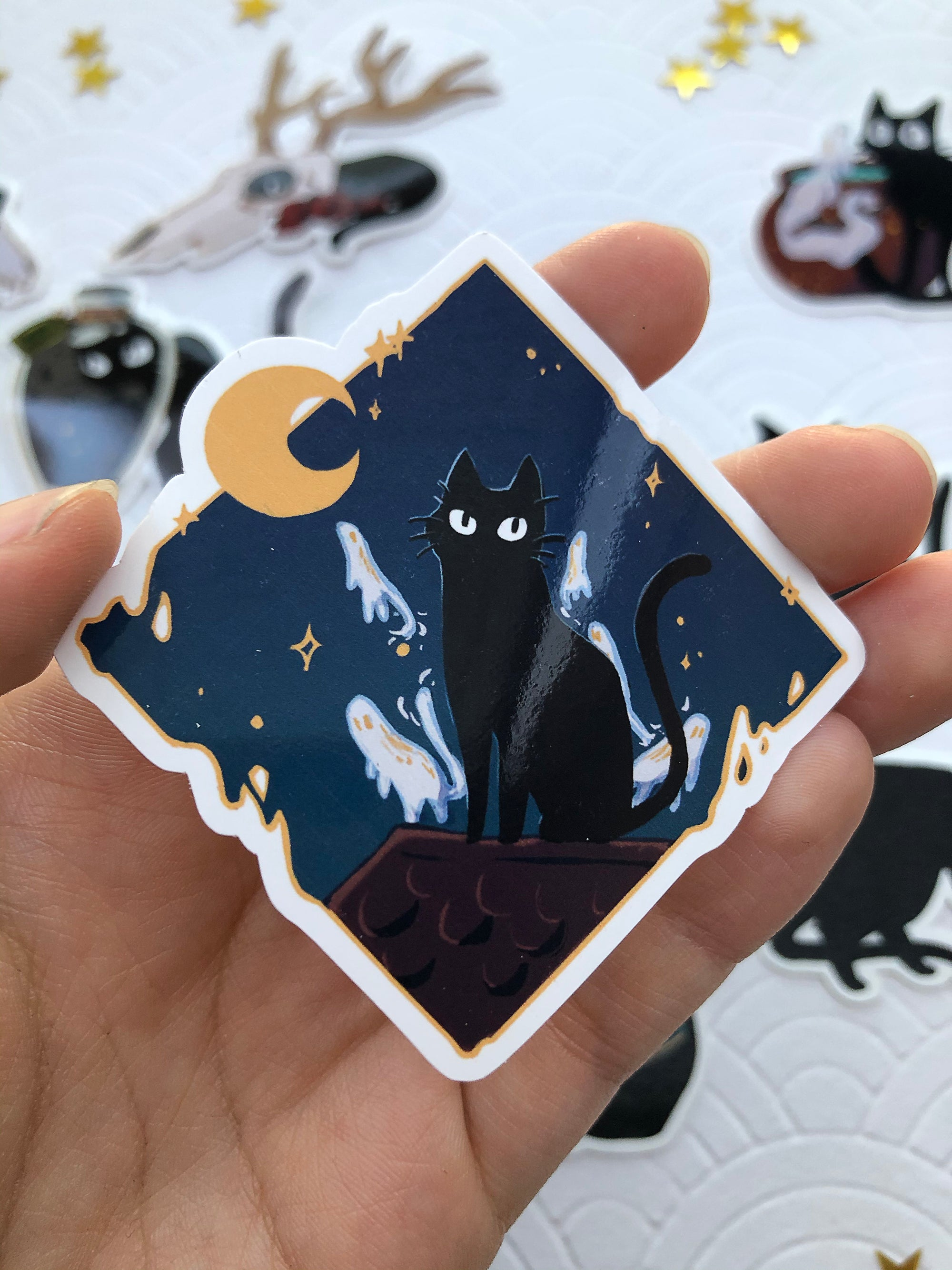 The Witch's Kitten | Stickers - Aurigae Art &Illustration
