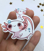 Load image into Gallery viewer, Axolotl | Stickers - Aurigae Art &Illustration