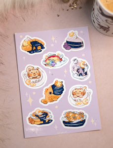 Starry Food | Stickersheet - Aurigae Art &Illustration