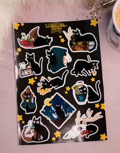 The Witch's Kitten | Stickersheet - Aurigae Art &Illustration