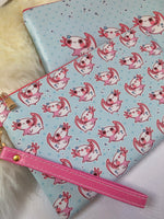 Load image into Gallery viewer, So many Axolotl Faux Leather Pouch | Bags - Aurigae Art &Illustration