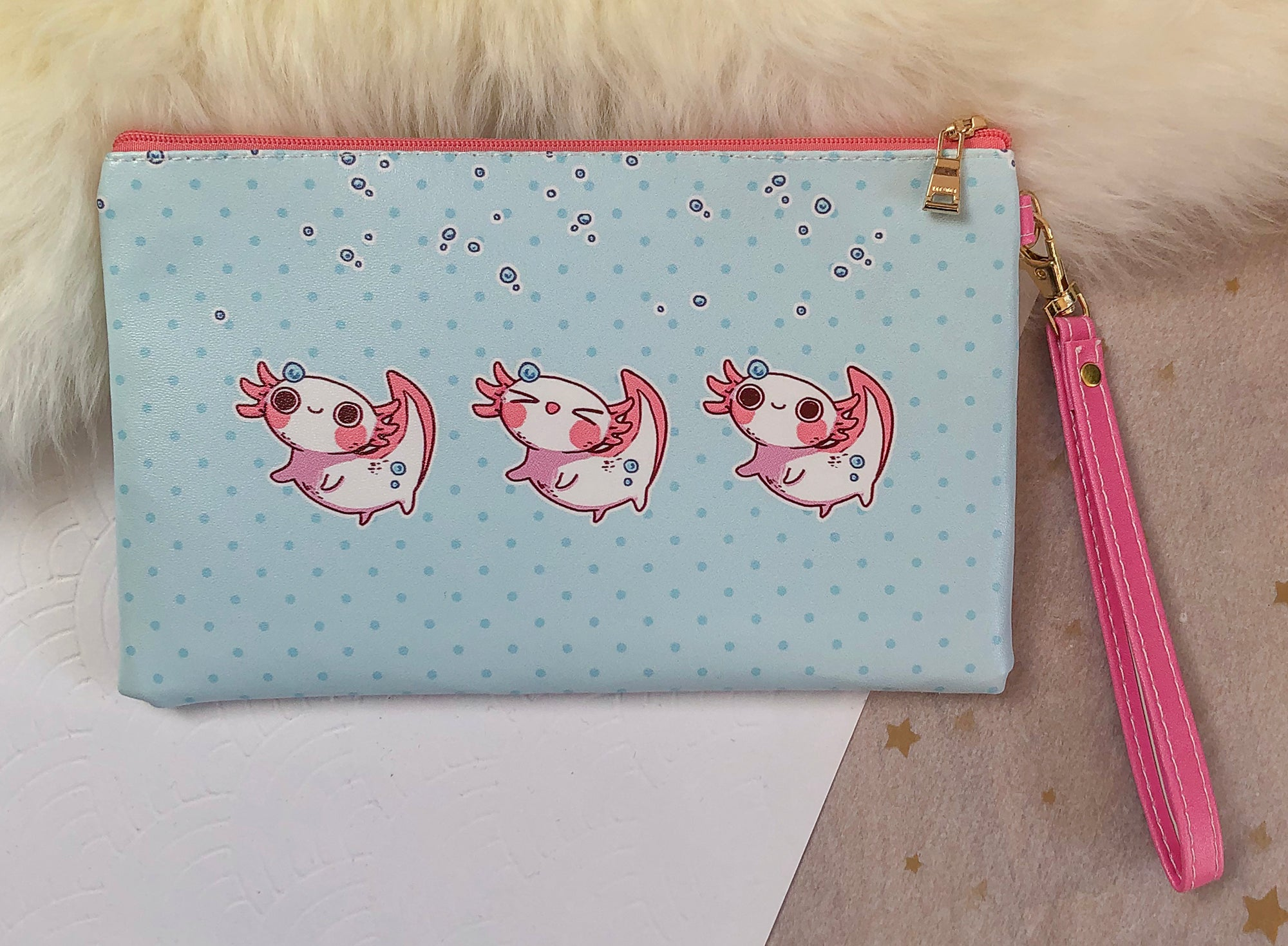 So many Axolotl Faux Leather Pouch | Bags - Aurigae Art &Illustration