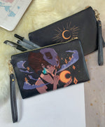 Load image into Gallery viewer, Silent Moon Faux Leather Pouch | Bags - Aurigae Art &Illustration