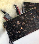 Load image into Gallery viewer, Witch's Kitten Faux Leather Pouch | Bags - Aurigae Art &Illustration