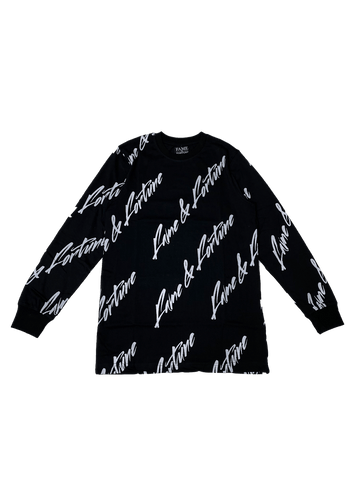 SIGNATURE Long Sleeve BLK/WHITE
