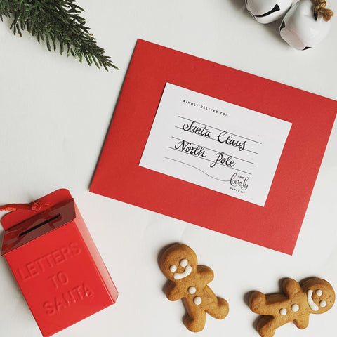 Letters to Santa - Lovely Paper address labels now with every card set