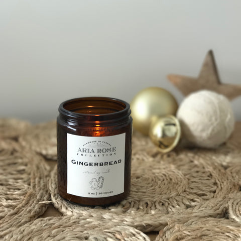 Aria Rose Gingerbread soy Christmas candle