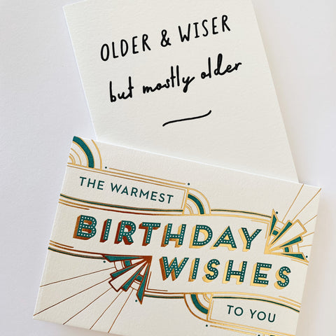 The Vintage Birthday Duo - Two pack of letterpress cards