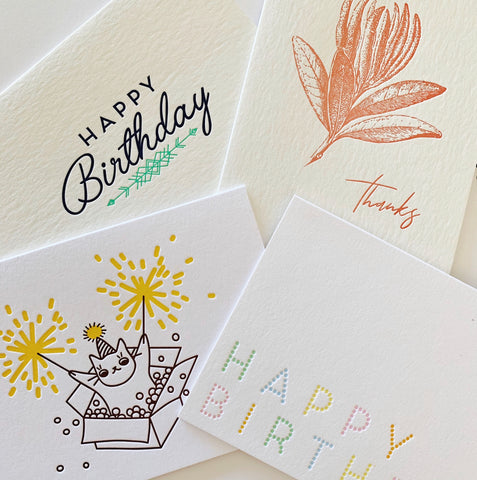 SOLD OUT: The Aussie Made Set - Four pack of letterpress cards