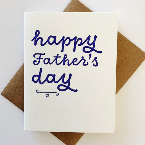Happy Father's Day - single letterpress card for Father's Day