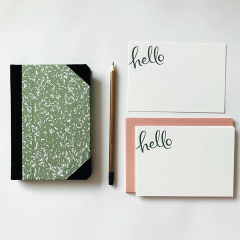 Green Goodies Notebook & Notecards Gift Pack