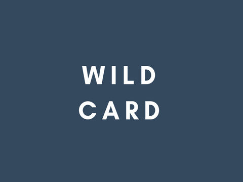 The Wild Card set - four pack of letterpress cards