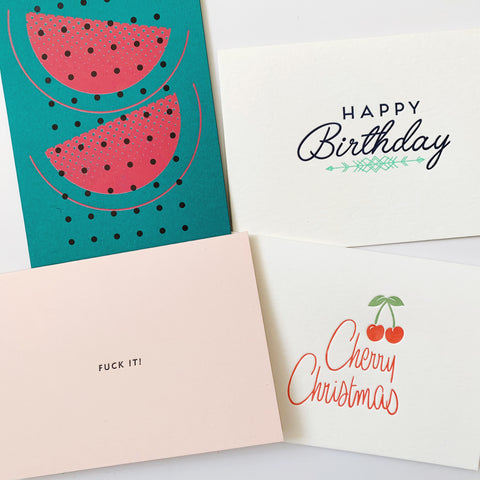 SOLD OUT: The November Set - four pack of letterpress cards