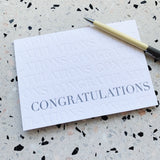Lovely Paper Co. - Congratulations letterpress greeting card by Tympan Ink