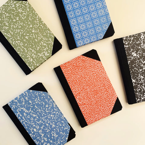 NEW: Handmade A6 Bound Notebook (Assorted Colours)