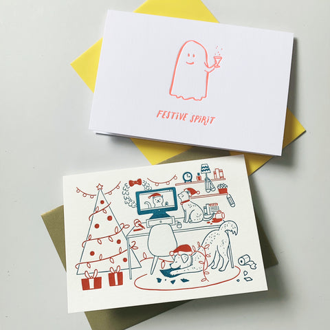 2020 Christmas Duo - two pack of letterpress cards