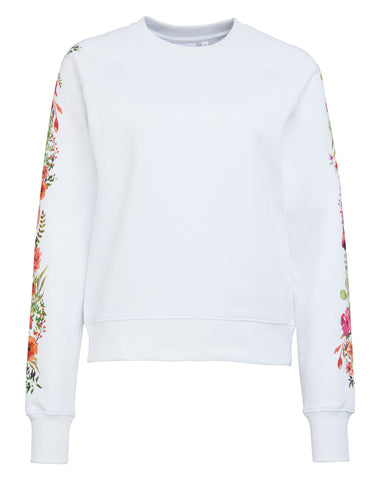Flower-Print Sweater