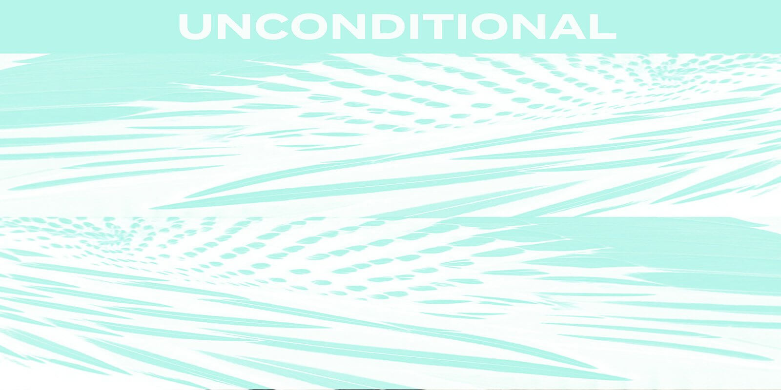 D/Luca Feather Unconditional Aqua - Artwork