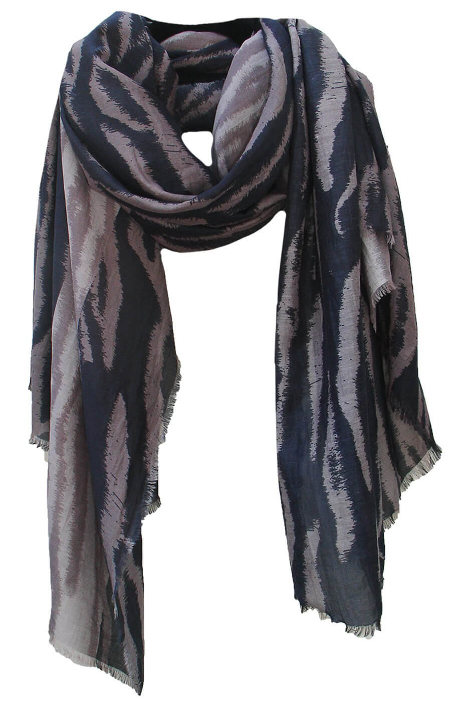 D/Luca Tiger Shades of Grey - Silk Cotton Blend