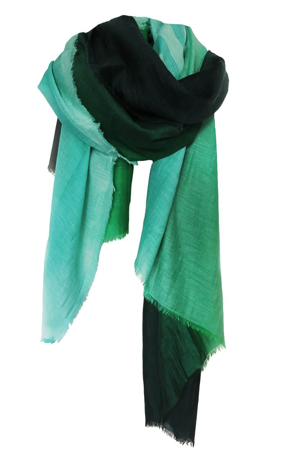 D/Luca Sanctuary Shades of Green - Silk Cotton Blend