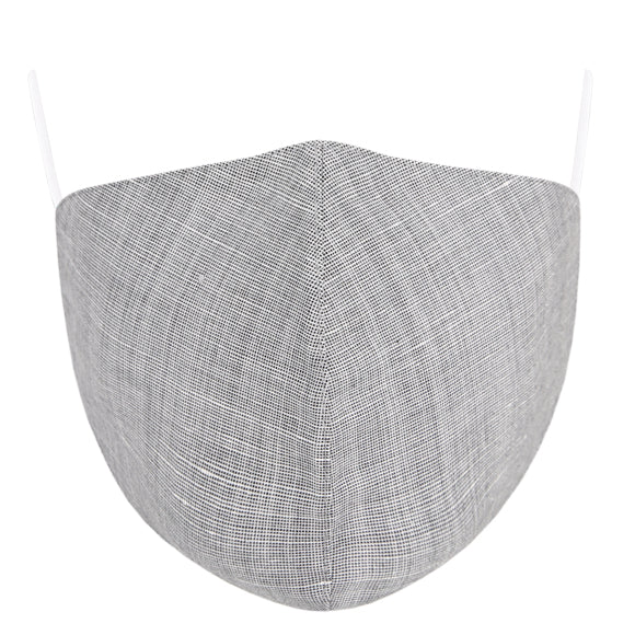Linen Tailored Mask - Grey Textured