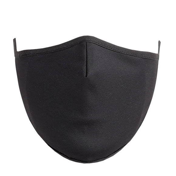 Cotton Tailored Mask - Black Solid