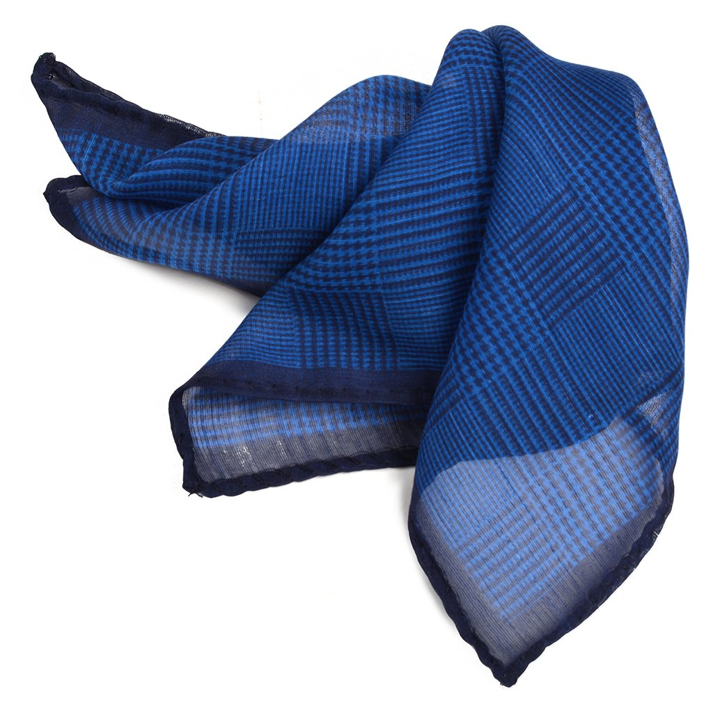 Silk & Wool Glencheck Print Pocket Square