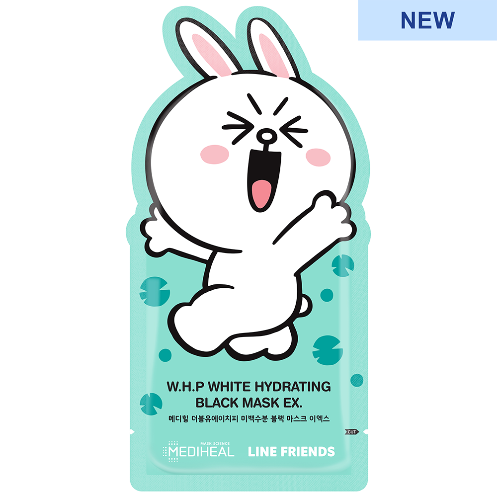 Line Friends W.H.P White Hydrating Black Mask Ex.