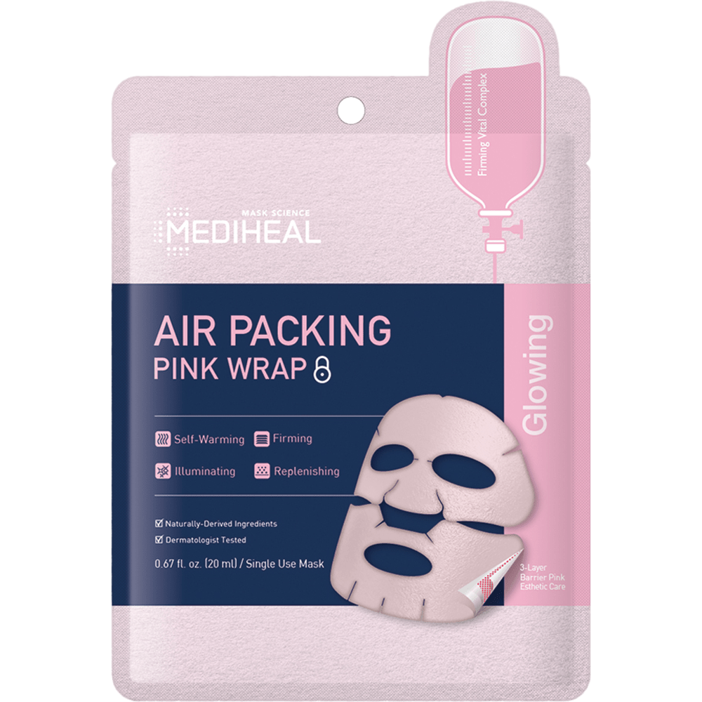 Air Packing Pink Wrap Mask - 5 Pack