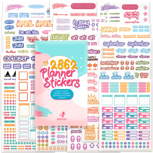 Planner Stickers - Value Pack 40 Sheets/2682 Planner Stickers And Accessories for Adults | Any Activity, Happy Event or Holiday in Your Calendar, Journal, Agenda in 2021