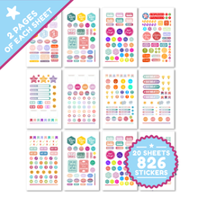 Load image into Gallery viewer, Planner Stickers by Savvy Bee - 20 Sheets of gorgeous planner stickers