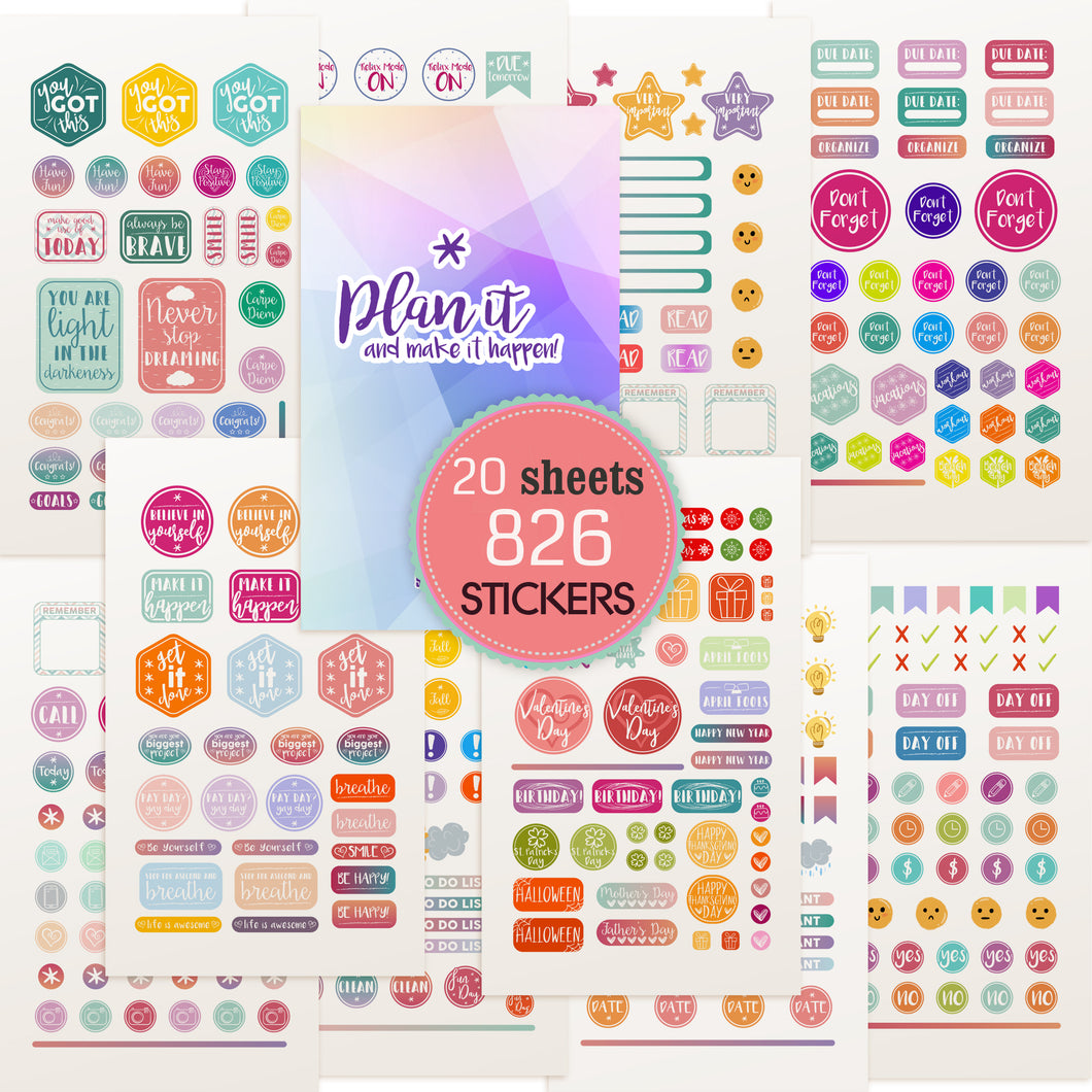 Planner Stickers by Savvy Bee - 20 Sheets of gorgeous planner stickers