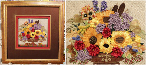 Autumn Bouquet Canvas: Melissa Shirley #1491 Without Squirrel