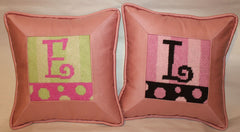 Beth Gantz Initial Pillows