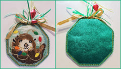 Otter Needlepoint Ornament